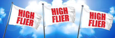 high flier: high flier, 3D rendering, triple flags
