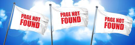 find fault: page not found, 3D rendering, triple flags
