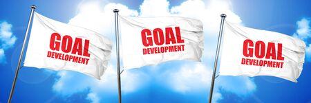 goal development, 3D rendering, triple flags Imagens