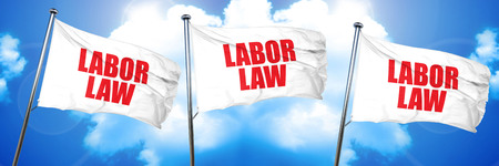 labor law, 3D rendering, triple flags Imagens