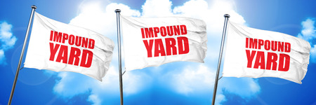 impound yard, 3D rendering, triple flags