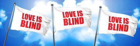 love is blind, 3D rendering, triple flags