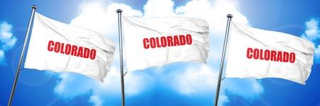 colaroda, 3D rendering, triple flags Imagens