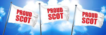 proud scot, 3D rendering, triple flags Reklamní fotografie