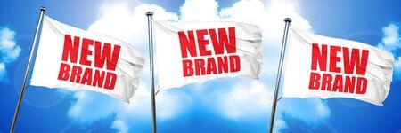 new brand, 3D rendering, triple flags