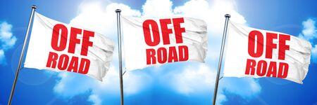 off road, 3D rendering, triple flags