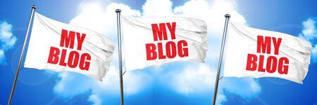 my blog, 3D rendering, triple flags
