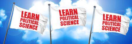 learn political science, 3D rendering, triple flags