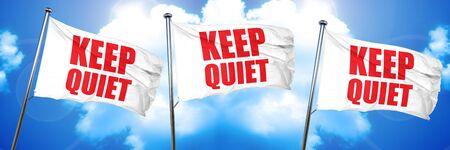 keep quiet, 3D rendering, triple flags