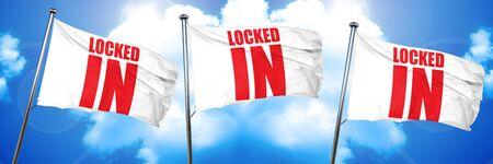 not open: locked in, 3D rendering, triple flags