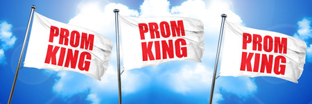 prom queen: prom king, 3D rendering, triple flags