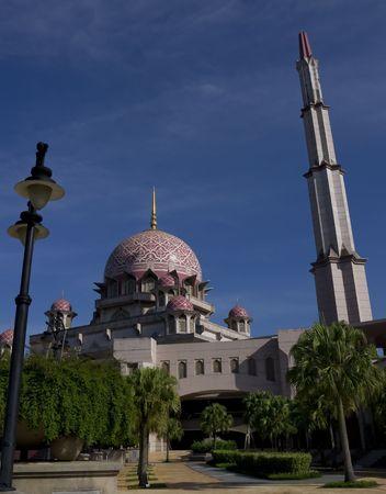 national landmark: Putra moschea - punto di riferimento nazionale per la citt� capoluogo di Putrajaya, Malaysia