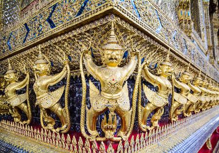 gold of garuda in Pra Keaw temple photo