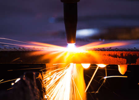 blue steel: metal cutting with acetylene torch