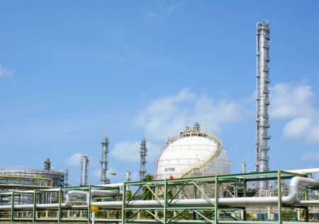 liquefied: petrochemical sphere tanks