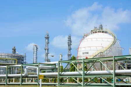 l p g: Tanques de almacenamiento de la esfera industrial de gas LPG