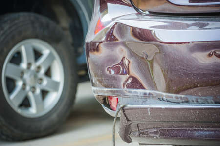 horse pipes: Car accident, insurance concept Stock Photo