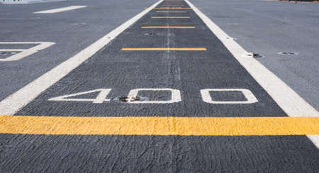 inhibition: Runway at takeoff on battleship and Runway Aircraft Carrier