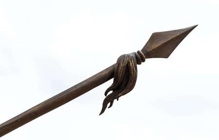 spear on white background