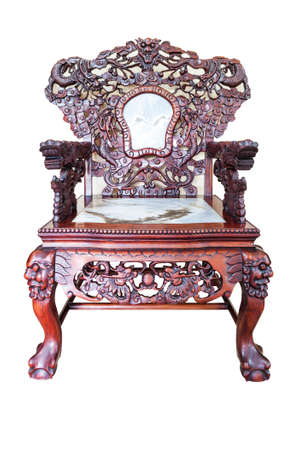 antique furniture: Wooden chair vintage style