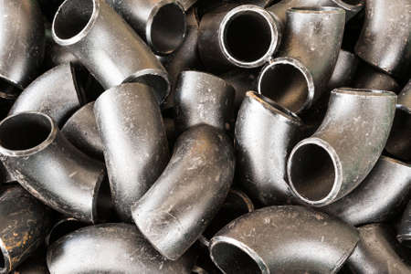 Metal steel elbows background Stok Fotoğraf - 33112490