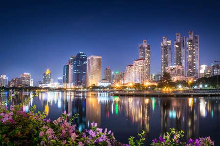 Bangkok city scape at night