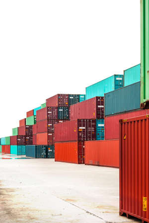 liczne: numerous shipping containers isolated on white Zdjęcie Seryjne