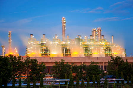 Close-up Boiler stream in petrochemical plant Imagens