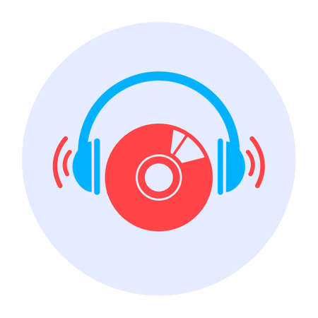 compact: CD or DVD icon. Compact disk simbol. Illustration