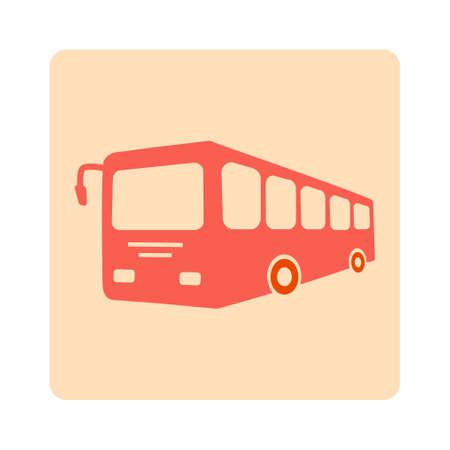 yellow schoolbus: Bus sign icon. Public transport symbol.