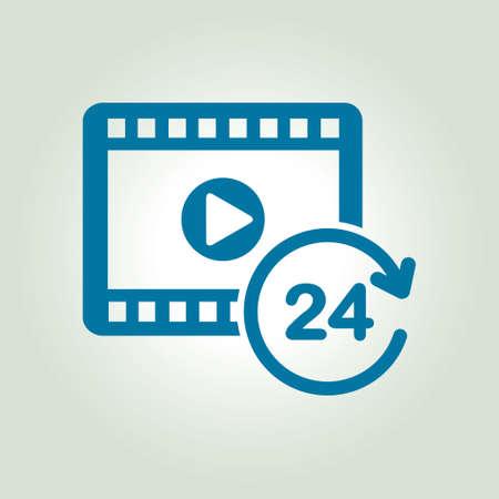 streaming: Streaming video symbol. Movie premiere. Live video Calendar.