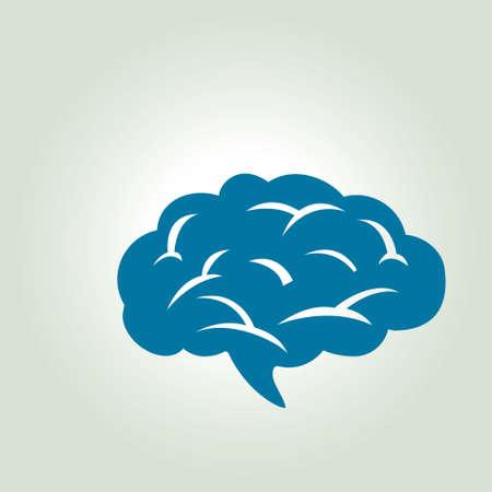 neurology: Brain icon. Human intelligent smart mind. Neurology symbol.