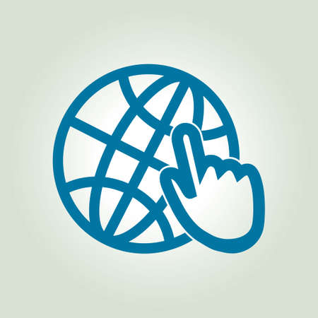 flat earth: Globe icon. Flat design style Earth vector icons.