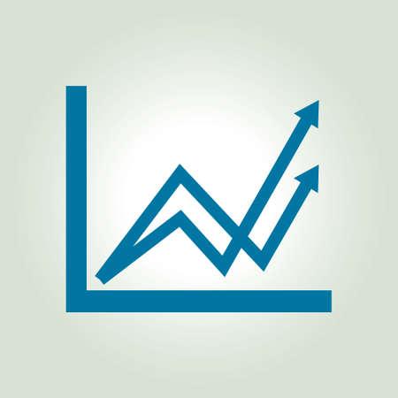 simbol: Grafico di affari. Infografica. Icona Grafico. Crescente grafico simbolo. stile di design piatto.
