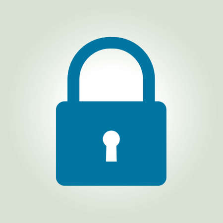 secret code: Lock icon. User login or authenticate icon.  Flat design style.