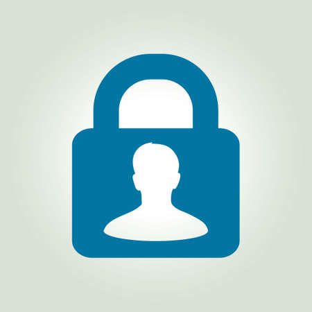 authenticate: User login or authenticate icon. Flat design style.