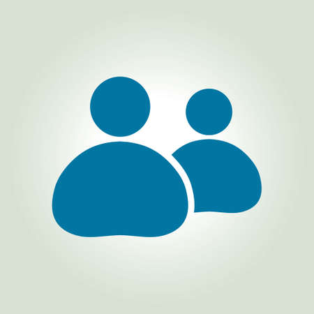 follower: People or social sign icon. The leader and his follower. Illustration