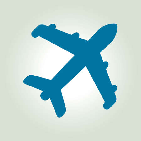 at the bottom of: Plane icon. Travel symbol. Airplane plane from the bottom sign. Illustration