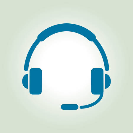 contact center: Flat icon of support. Sign the call center. Contact technical support. Call and we will reply to you.