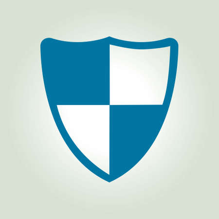 computer viruses: Shield icon. Protection concept.  Software designed to detect and destroy computer viruses.