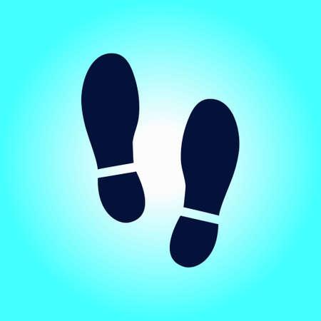 shoeprint: Shoe print symbol.