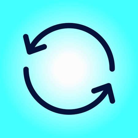 Ciircular arrow sign vector icon. Flat design style.