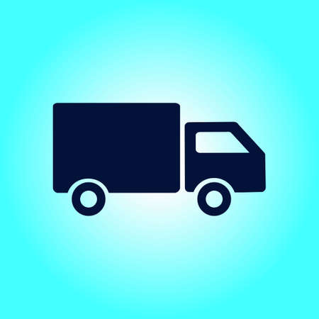 Delivery truck sign icon. Illustration