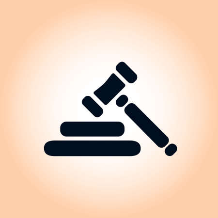 Auction sign symbol. Illustration