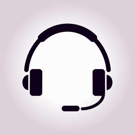 Icône plate du support. Signez le centre d'appel. Contactez le support technique. Appelez et nous vous répondrons.