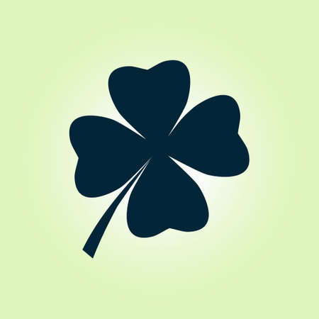lucky clover: Leaf clover sign icon. Saint patrick symbol. Ecology concept. Flat design style.