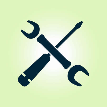 Repair Icon. Service  symbol. Tools singn. Flat design style. Illustration