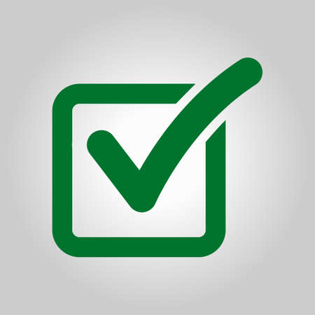 approved: Check box icon. Illustration