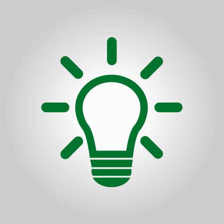 Light bulb sign symbol. Illustration