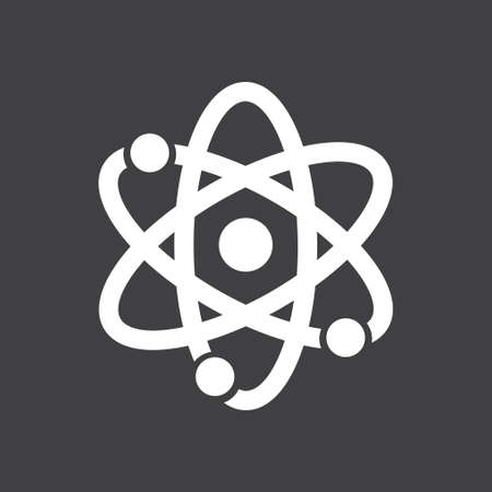 Atom sign symbol. Atom part icon. Flat design style. Illustration